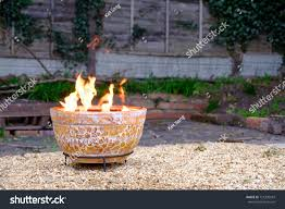 Backyard Fire Pits by Clay Outdoor Fire Pit Back Garden Stock Photo 721230547 Shutterstock
