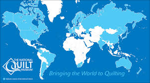Countries Visited Map Winter 2017 Newsletter The National Quilt Museum