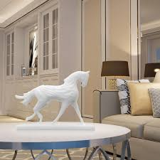 best and cheap white tomfeel 3d printed sculpture running horse