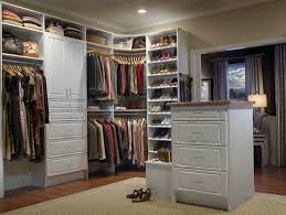 stylish small square walk in closet ideas enhanced with large