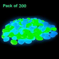 amazon com 200 pcs glow in the dark pebbles glow in the dark