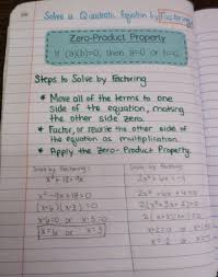 math love solving quadratics by factoring and the zero property