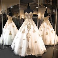 white and gold wedding dress rosaurasandoval com