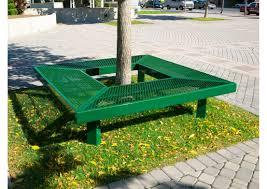 geometric mall bench ultrasite