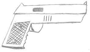 boredom induced handgun sketch by gwarins knight on deviantart