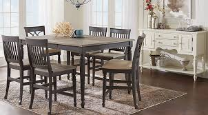 High Dining Room Table Set by Cindy Crawford Home Ocean Grove Gray 5 Pc Counter Height Dining