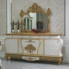 yb67 luxury french louis xv golden buffet sideboard cabinet