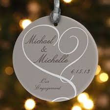 wedding ornaments personalized engagement christmas ornament glitter ornament personalized