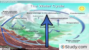 the water cycle precipitation condensation and evaporation