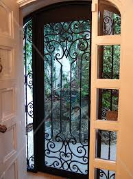 screen doors with wrought iron search doors