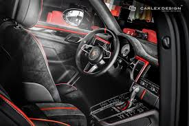 porsche macan interior 2017 porsche macan gets a berserk red and black interior makeover from