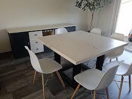grande table cuisine table bois et metal salle manger best of table salle a manger bois