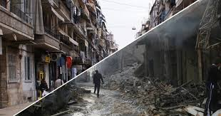 syria before and after aleppo before and after syria s civil war told in haunting images