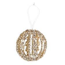 garland sphere ornaments small set of 2 wisteria