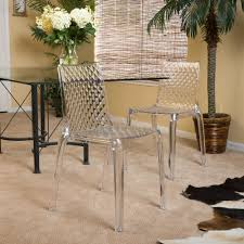 Dining Room Chair Upholstery Christopher Knight Home Adalyn Transparent Side Chair Set Of 2