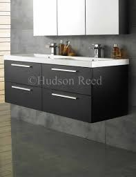 Hudson Reed Bathroom Furniture Bathroom Hudson Reed Quartet Black Wood Wall Hung Vanity Unit