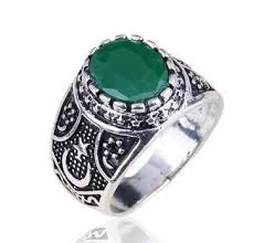 platinum rings for men in islam aliexpress buy antique muslim ring of blue and
