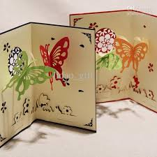 Designs Of Greeting Cards Handmade The Love Theme Creative Butterflies Handmade Kirigami U0026amp