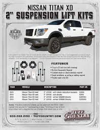 nissan titan quick lift tuff country titan xd 2 u2033 lift leveling kit u2013 taw all access