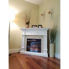 Infrared Electric Fireplace Harper Blvd Reese White Faux Stone Corner Convertible Infrared