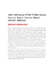 1983 1985 honda vt750 c vt700c shadow service repair factory manual i u2026