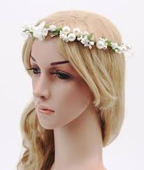 white flower headband 2016 bridal bridesmaid white flower headband princess pearl