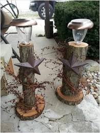 solar lights for craft projects what can you do with fallen trees branches rustic pillars