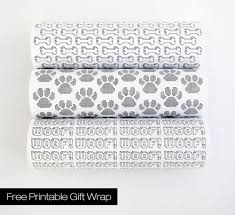 free printables modern dog themed gift wrap dog milk