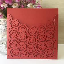 online get cheap red roses wedding invitations aliexpress com