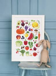 fruit and vegetable abc poster on behance