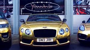 black and gold bentley bentley gtc wrapped chrome gold for uk u0027s gold car man youtube