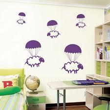 stickers animaux chambre b parachutisme moutons stickers autocollants mur graphique bébé