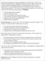 Resume Examples For Executive Assistant by Download Medical Office Resume Haadyaooverbayresort Com