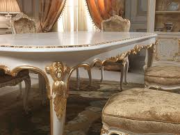 Luxury Dining Room Set Dining Table In Louis Xv Style With Golden Carvings Executed By