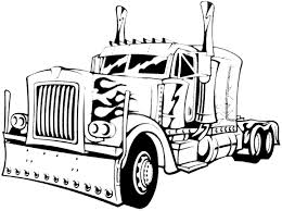 coloring page elegant trucks to colour in dump truck coloring