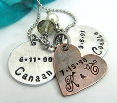 personalized mothers necklace personalized s necklace baby heart charm sterling