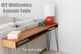 Hairpin Leg Console Table A Diy Midcentury Console Table Directions Not Included