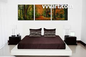 Forest Designs Bedroom Furniture 3 Piece Green Canvas Forest Landscape Art