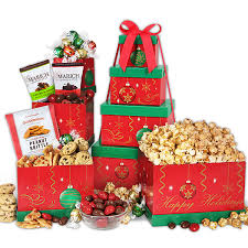 Gift Towers 15 Gourmet Holiday Gift Baskets Under 50 That Bald
