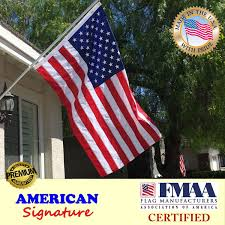 Flag Manufacturers Amazon Com American Flag 4x6 Made In Usa By Fmaa Certified