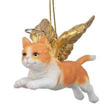 honor the feline orange tabby cat ornament
