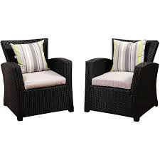 Vinyl Wicker Patio Furniture - atlantic staffordshire resin wicker patio club chair set of 2