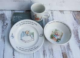 rabbit nursery set by wedgwood 55 beatrix potter plate set rabbit and friends child plate