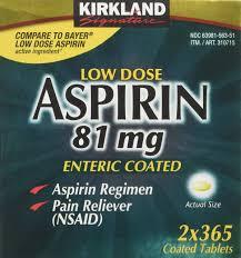 Kirkland Signature Patio Heater by Kirkland Signature Low Dose Aspirin 2 Bottles 365 Count Enteric