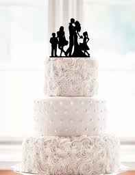 family wedding cake toppers silhouette and groom wedding cake topper with a