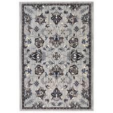 shop allen roth isburg grey rectangular indoor woven area rug