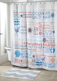 Boston Red Sox Shower Curtain Avanti Beach Words Shower Curtain And Shower Hooks Belk