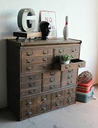Antique Storage Cabinet Wooden 23 Drawer Storage Cabinet