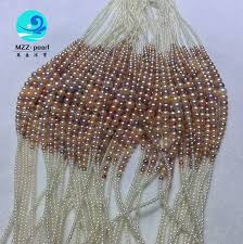 round freshwater pearl necklace images Mixed color round pearl necklace in gradual shape 2 9mm very high jpg