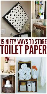 toilet paper shelf nifty ways to store toilet paper